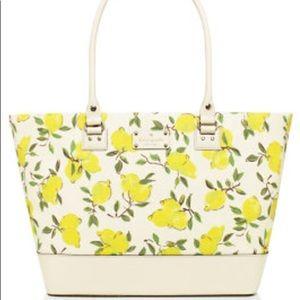 Kate Spade lemon print harmony purse